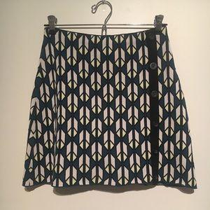 Geometric stretch mini skirt Rachel Roy
